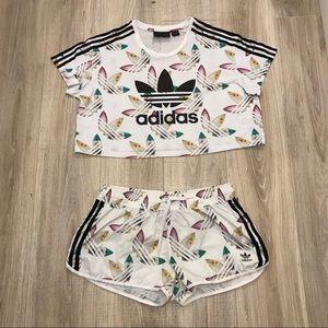 d74086889026 adidas Tops | X Pharrell Crop Top Matching Shorts Set | Poshmark